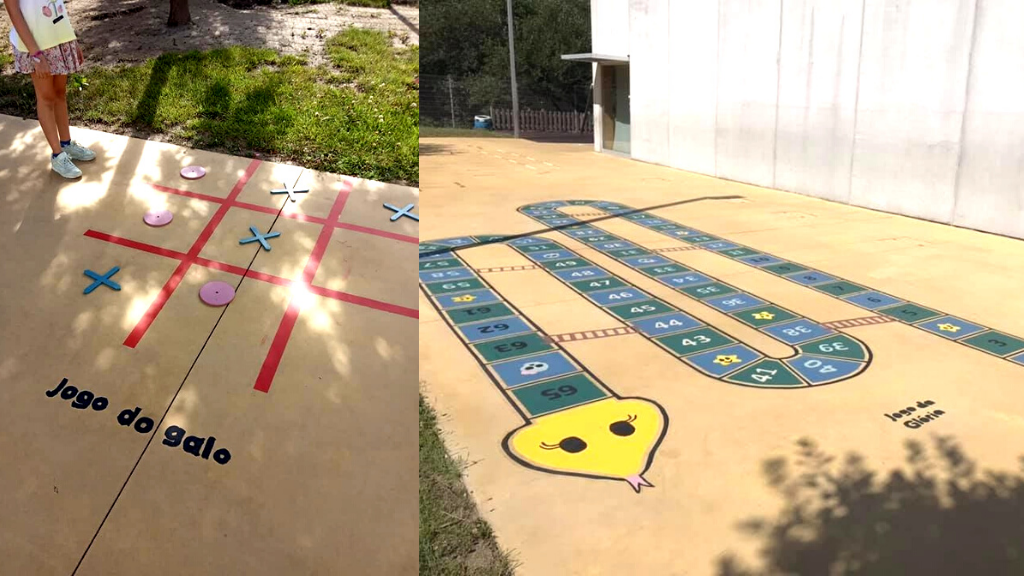 Parliament of Students creates giant games in the playground – EB1 of Gueifães, Portugal
